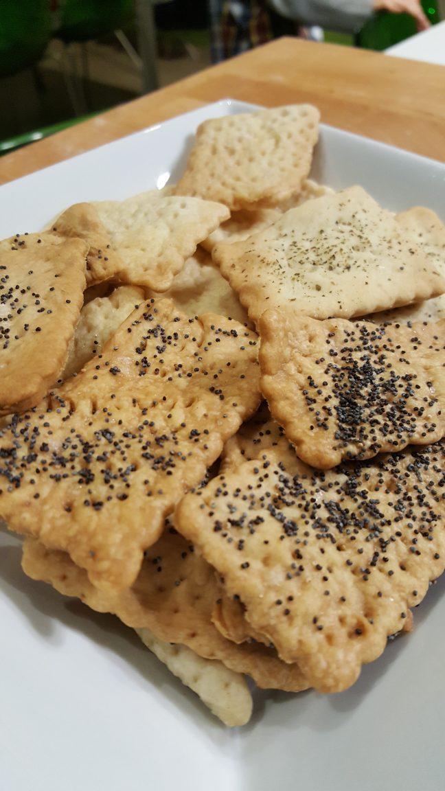 crackers salati senza lievito